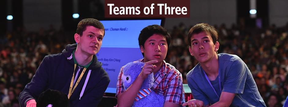 Teams of three