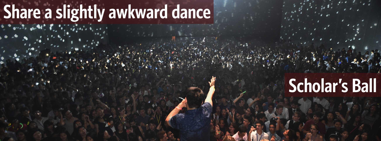 Share a slightly awkward dance
